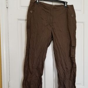 Chico's Khaki Capris Cropped Pants Sz 2.5-12/14
